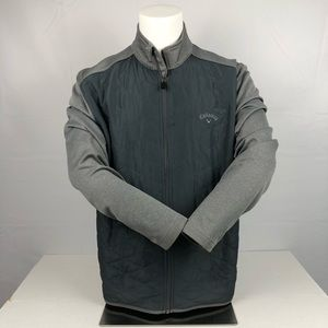 Callaway Gray Full Zip Up Performance Golf Jacket